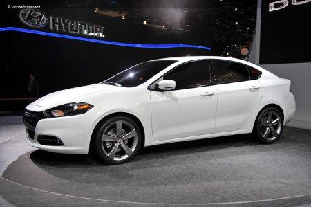 Белый Dodge Dart 2013