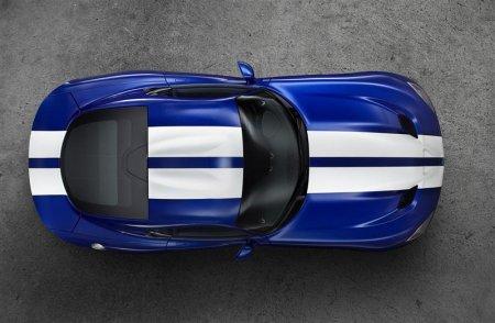 Вид сверху Dodge Viper GTS 2013