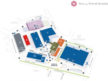 Карта Парижского Автосалона 2012 года