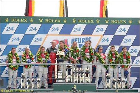 Победители Ле-Ман 2012 команда Audi
