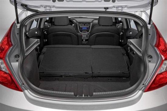 Багажное отделение Hyundai Accent 2013