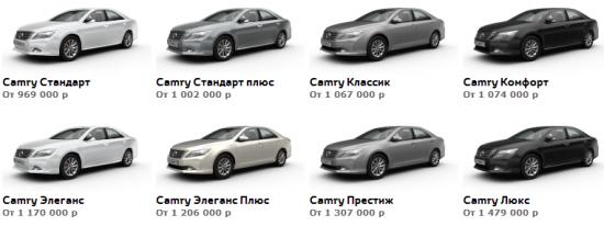 Цена на Toyota Camry 2013
