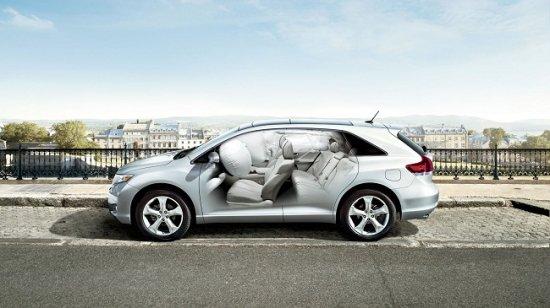 Подушки безопасности в Toyota Venza 2014