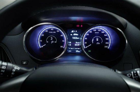 Дисплей водителя в Hyundai ix35 2014 года