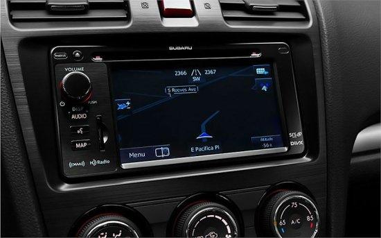 Дисплей в Subaru Impreza 2014