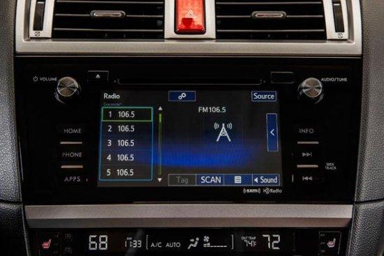 Аудио дисплей в Subaru Outback 2015