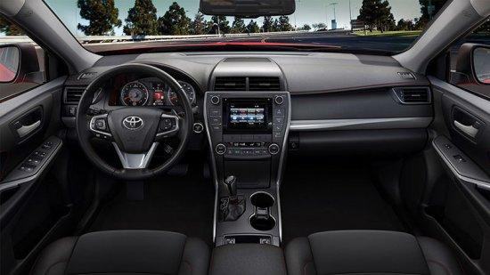 Фото салона в Toyota Camry 2015 года