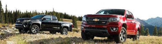 Красный и черный Chevrolet Colorado 2015