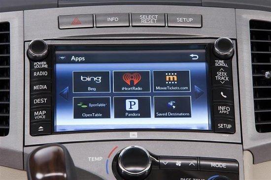 Центральный дисплей в Toyota Venza 2015