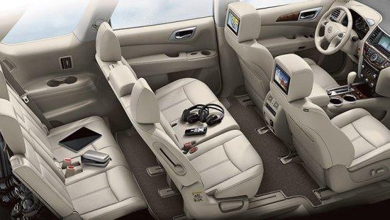 Салон автомобиля Nissan Pathfinder 2015