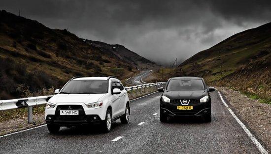 Сравнение Nissan Qashqai и Mitsubishi ASX