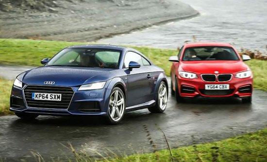 Сравнительный обзор спорткупе Audi TTS и BMW M235i