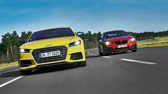 Спорткары Audi TTS и BMW M235i