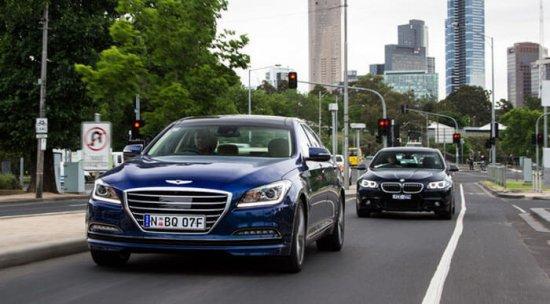 Тест-драйв и обзор BMW 5-Series и Hyundai Genesis