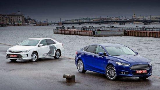 Сравнительный обзор и тест-драйв Toyota Camry и Ford Mondeo