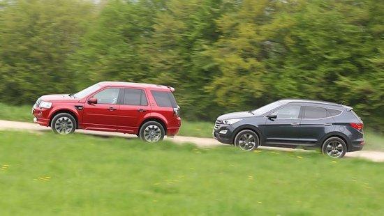 Сравнительный обзор и тест-драйв Land Rover Freelander 2 и Hyundai Santa Fe 2