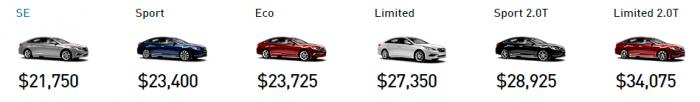 Цены на Hyundai Sonata 2016
