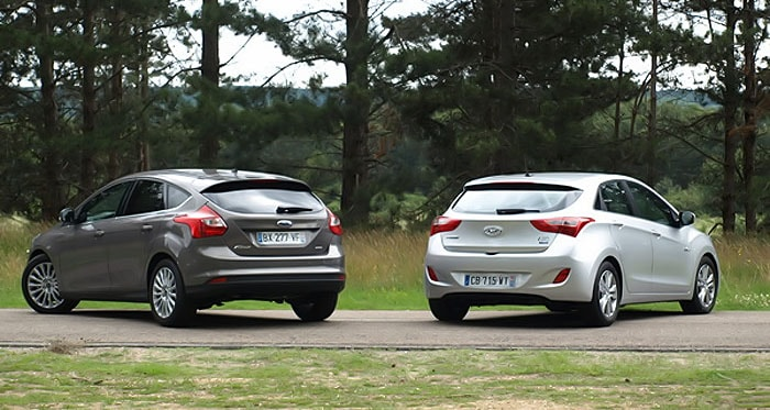 Два соперника Ford Focus и Hyundai i30