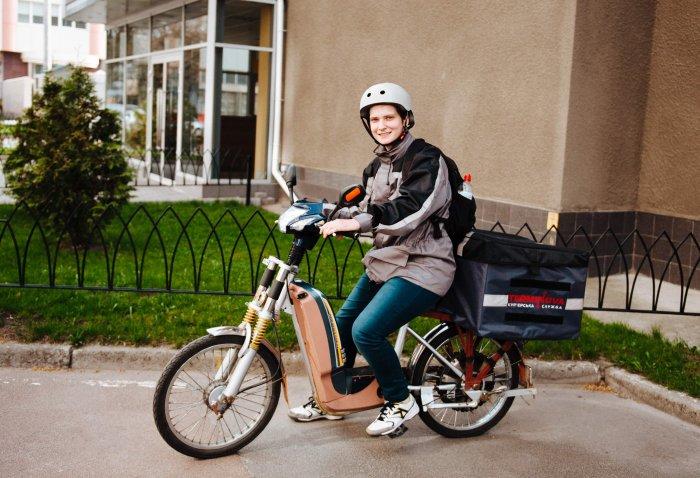Велосипед на помощь курьерам