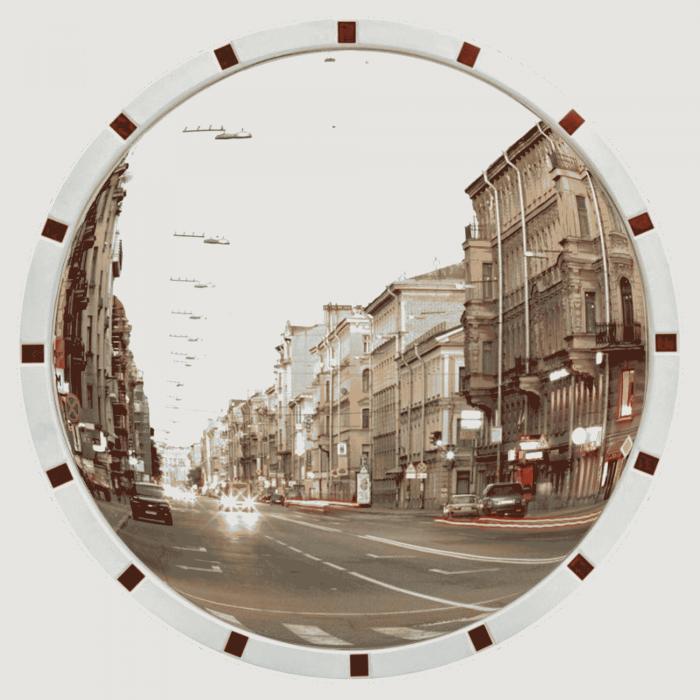 Как выглядят современные материалы для оснащения дорог: дорожные знаки, уличные зеркала и лежачие полицейские